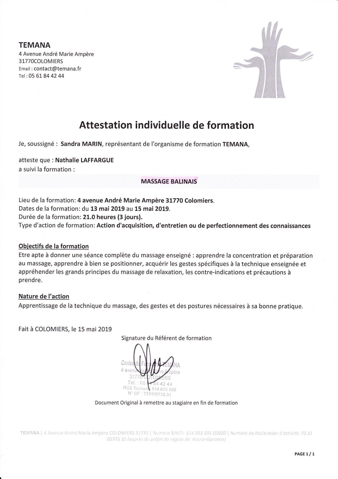 Certificat Massage Balinaisjpg