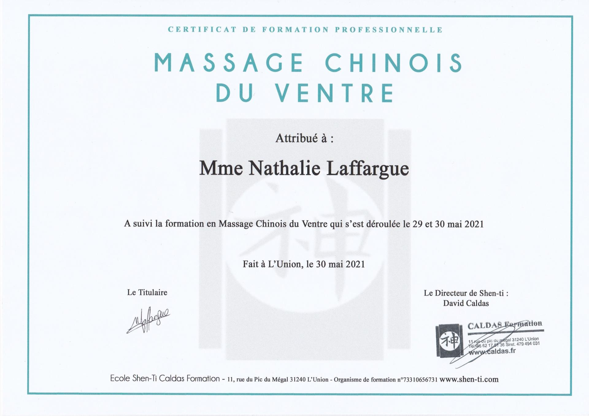 Certificat massage ventre 2