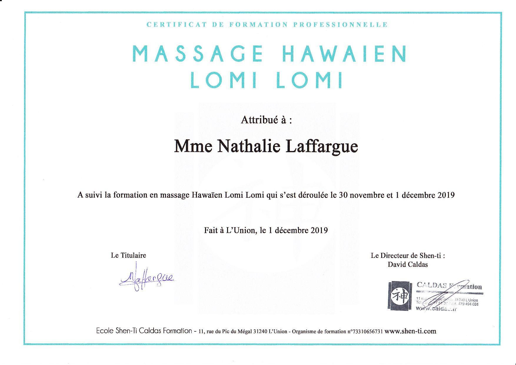 Diplome massage lomi lomi p001 1