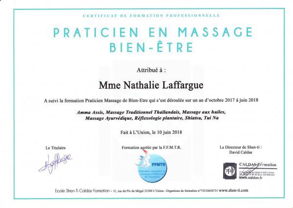 Diplome praticien massage bien etre