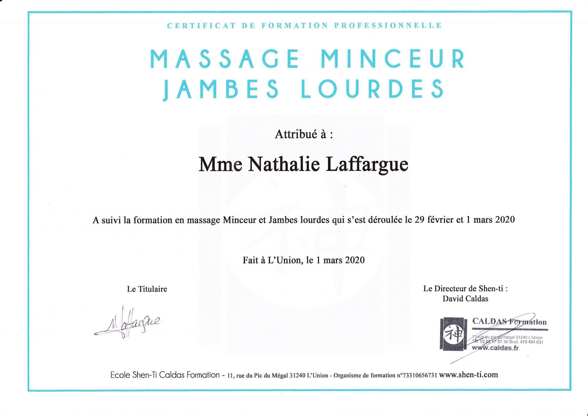 Massage minceur jambes lourdes